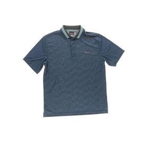 NWT Greg Norman Blue Golf Polo Shirt S